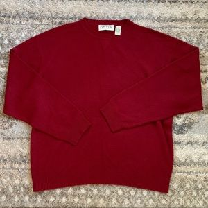 Orvis V-Neck 100% Cashmere Pullover Sweater XL